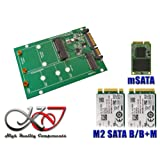 Kalea-Informatique - Adaptor - M.2 (NGFF) and/or mSATA / Mini PCIe to SATA 3