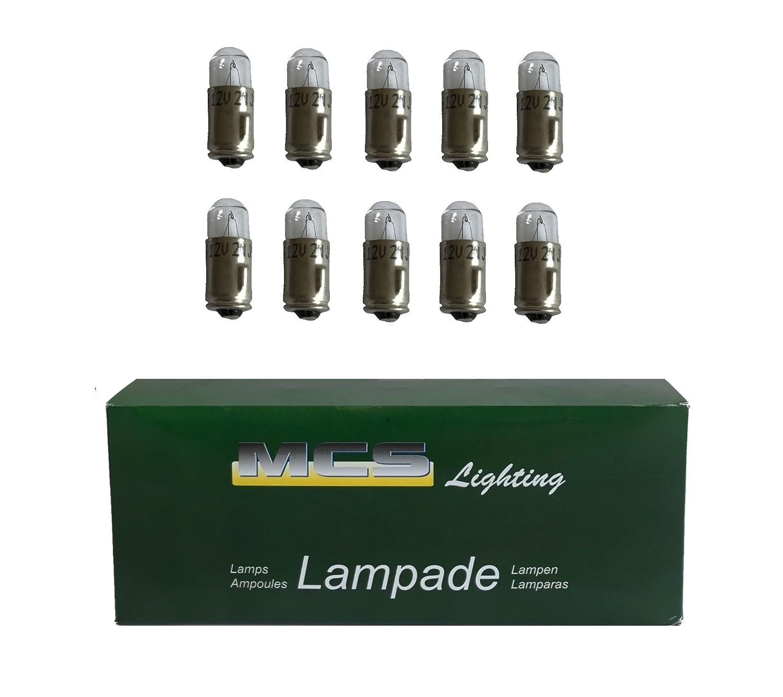 Melchioni 322199945 Lampe 12 V 2W Ba7S 10-er Set