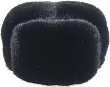 Ysting Sombreros rusos del Trapper de Ushanka de la Piel Llena del vis/ón de los Hombres