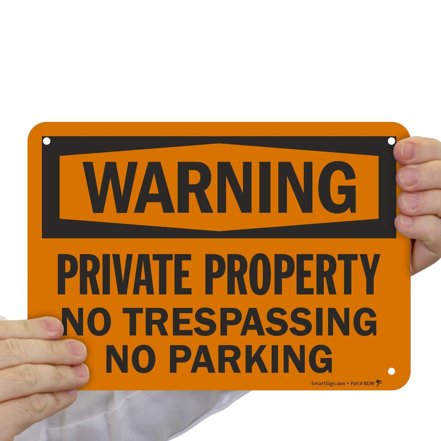 Private Property Signage Durable Laminated Vinyl//Aluminum 040 by Graphical Warehouse 12 x 18 Private Property No Trespassing Sign Easy Mounting Trespass Warning