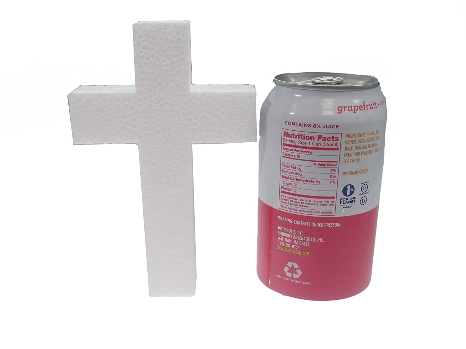 FloraCraft Styrofoam Unassembled Cross 2.9 Inch x 20 Inch x 36 Inch with 2 Inch Face White