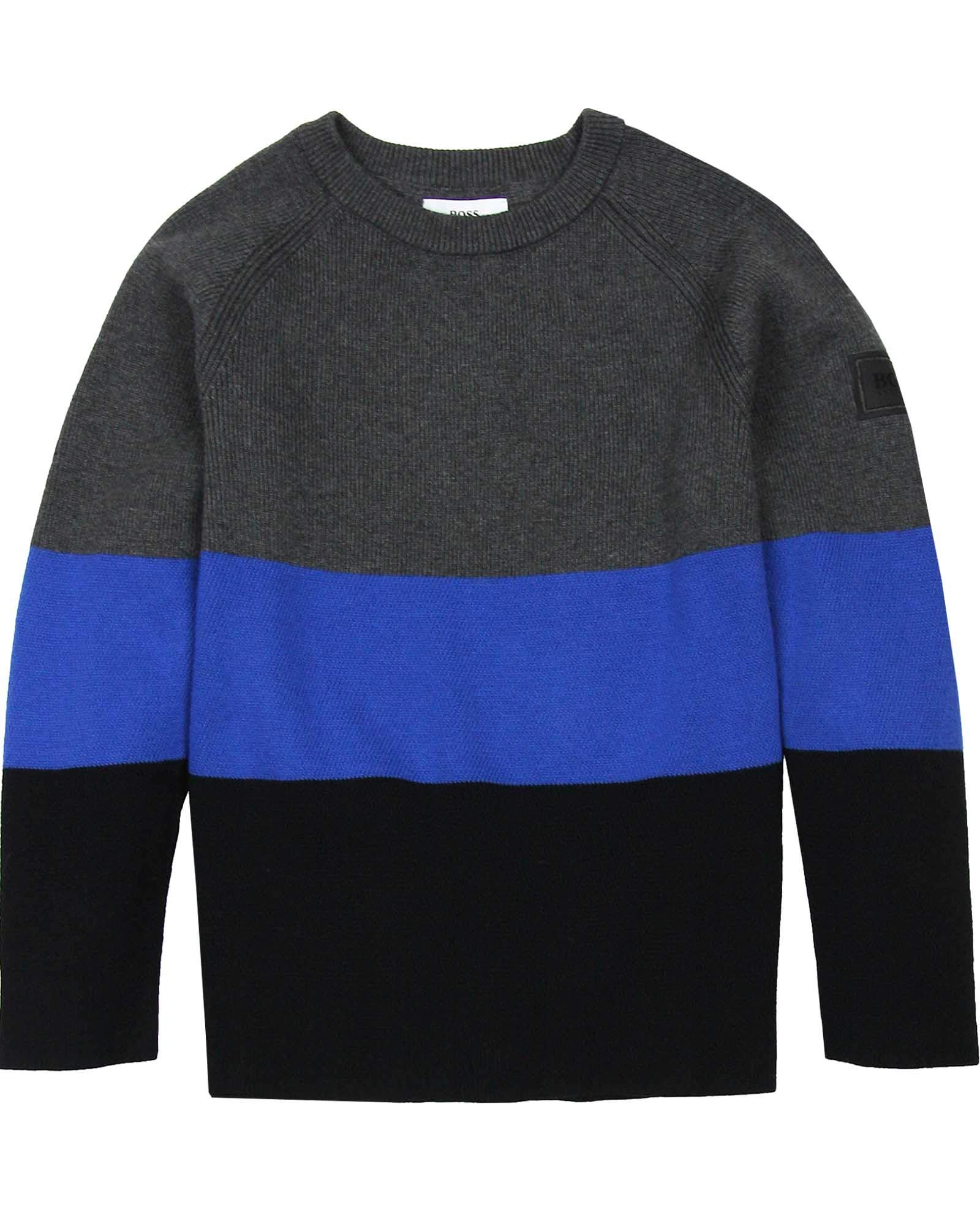 BOSS Boys Striped Pullover, Sizes 6-16 - 6