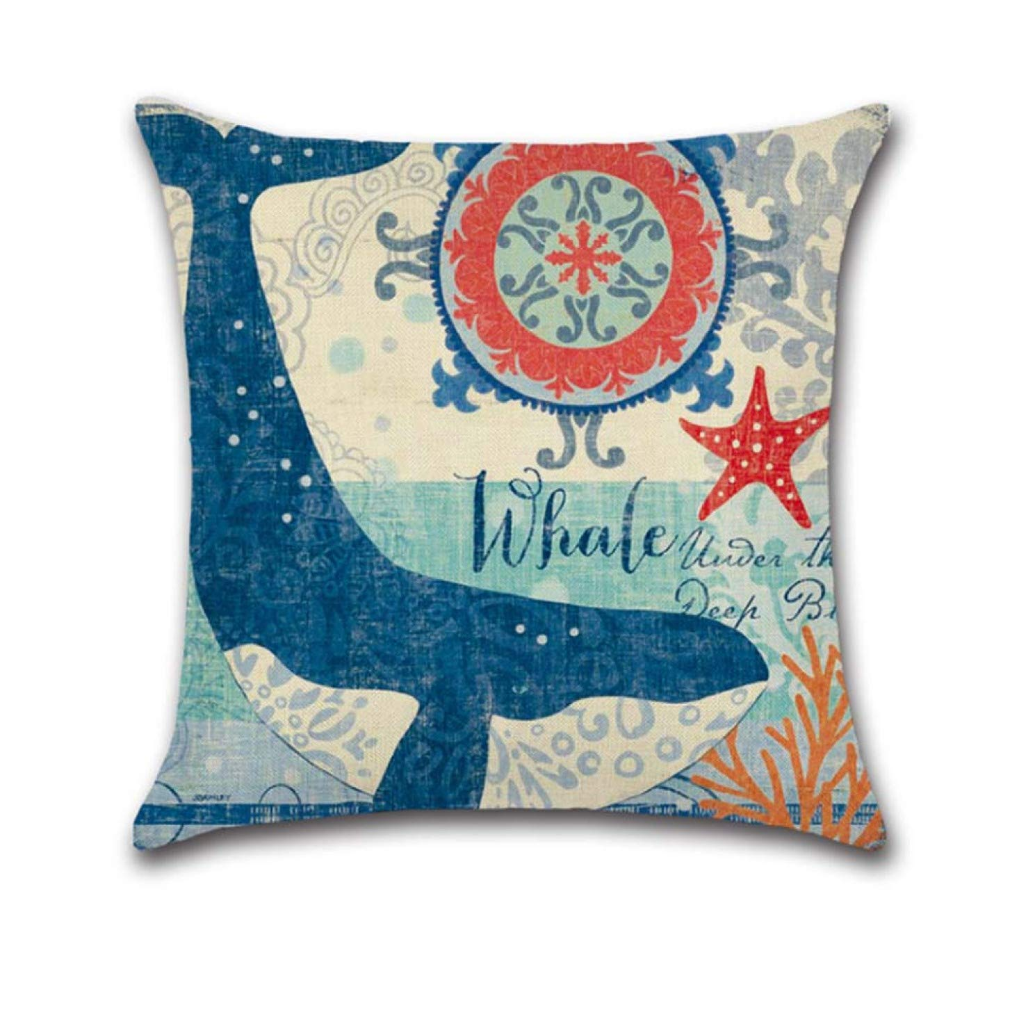 None octopus Srbosheng Advanced Personality Octopus Turtle Decoration Cushion Pillow Best Sea Case Covers Bedroom Horse Sofa Ocean Casual Sofa decoration