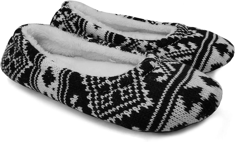 Totes Isotoner VELOUR Ladies House Warm Comfortable Ballet Slippers Animal//Black