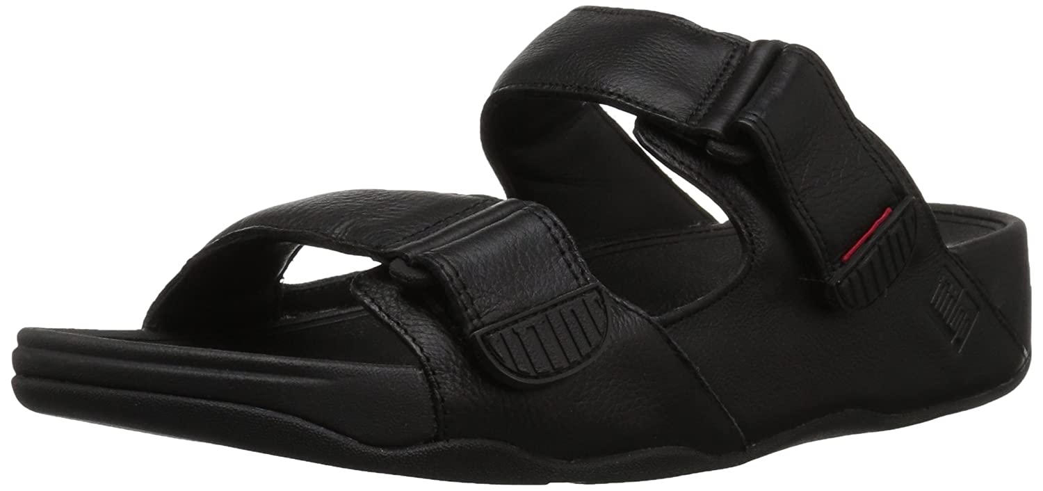 TALLA 43 EU. Fitflop Gogh Moc Slide In Leather, Zapatos de Playa y Piscina para Hombre