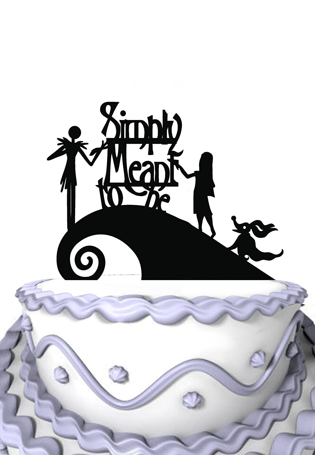 Amazon.com: Meijiafei Wedding Cake Topper - Jack and Sally Simply ...