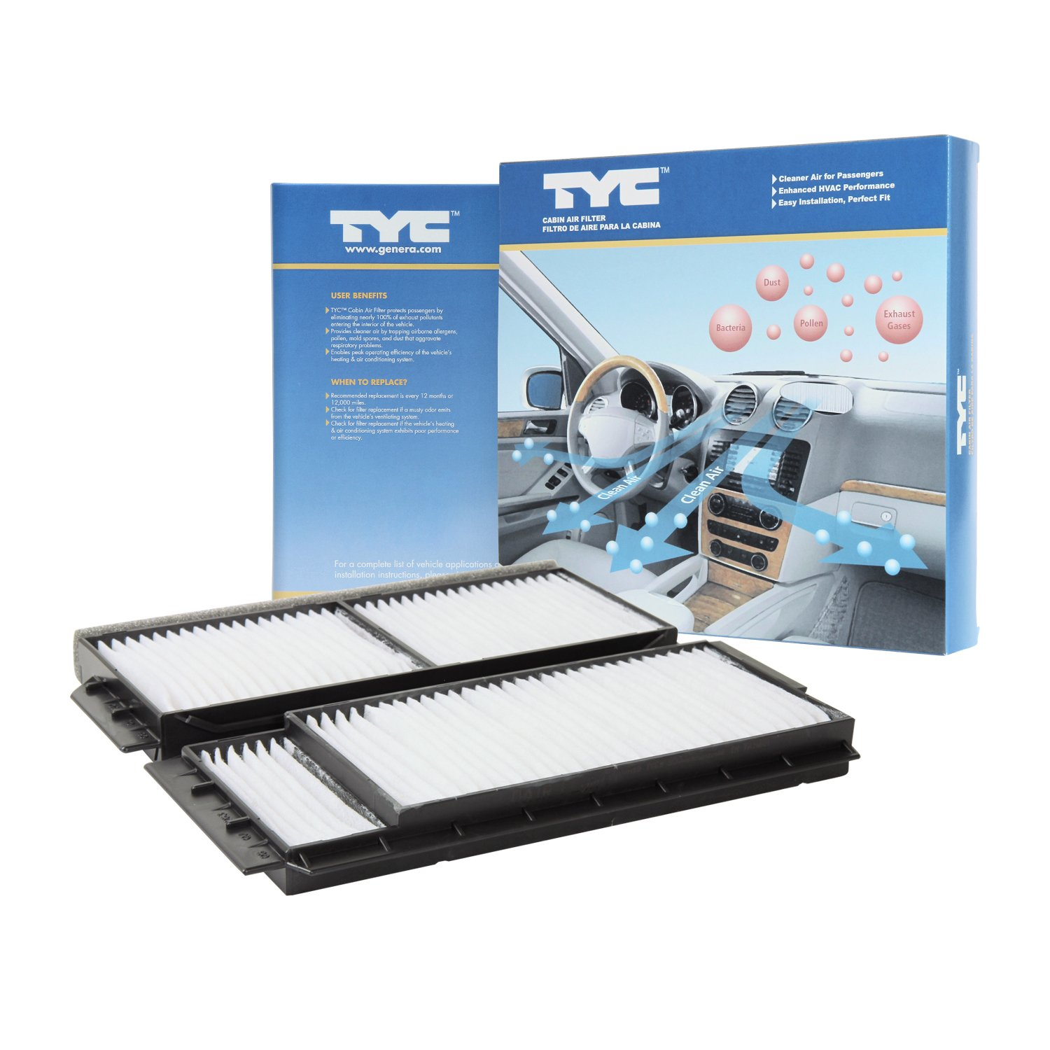 Tyc 800023p2 Mazda Replacement Cabin Air Filter Automotive Replace 3 Fuse Box Diy