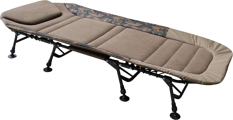 MK-Angelsport Tumbona Fort Knox, soporta hasta 150 kg, de X-Pro Camo Bedchair para jardín, 8 patas: Amazon.es: Deportes y aire libre