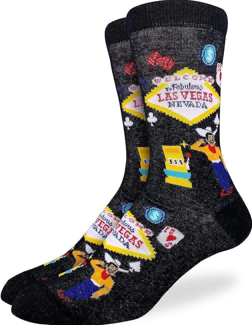Black Good Luck Sock Womens Las Vegas Socks Adult Shoe Size 5-9