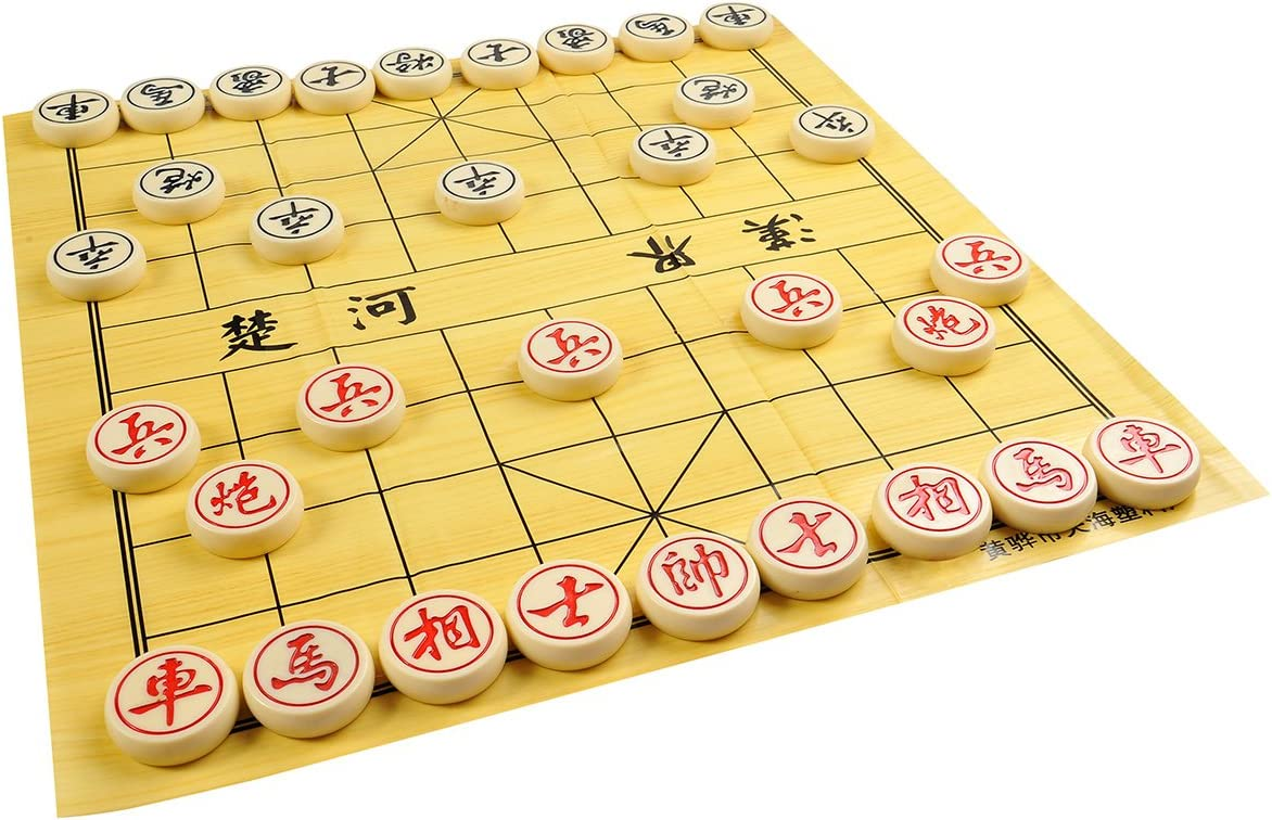 Mod made melamine resin CL-160 heavy pieces for Chinese Chess // Xiangqi 3lbs // 1.4 kg size XL: diameter 2 // 5cm Quantum Abacus Premium Xiangqi: Professional