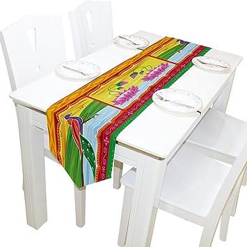 Amazon.com: yochoice camino de mesa decoración del hogar ...