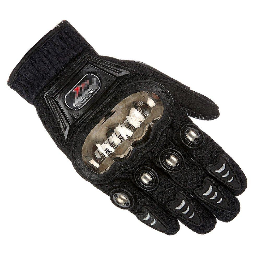 LDFN Edelstahl-Handschuhe Anti-Rutsch-Touchscreen Für Den Betrieb Fahren Skifahren Skating Klettern Training,schwarz-L