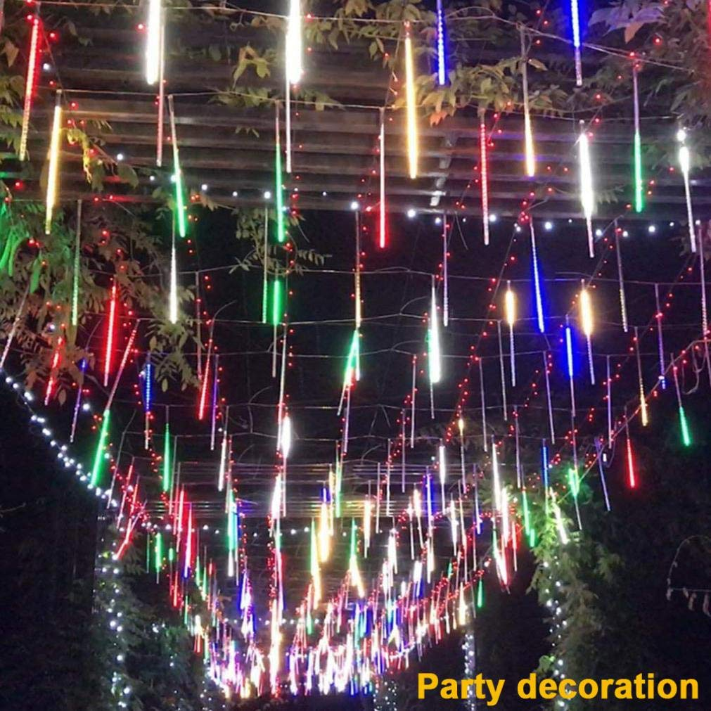 coersd Outdoor String Lights, Party LED Lights Meteor Shower Rain Snowfall Xmas Tree Garden Outdoor (Multicolor) by coersd (Image #3)