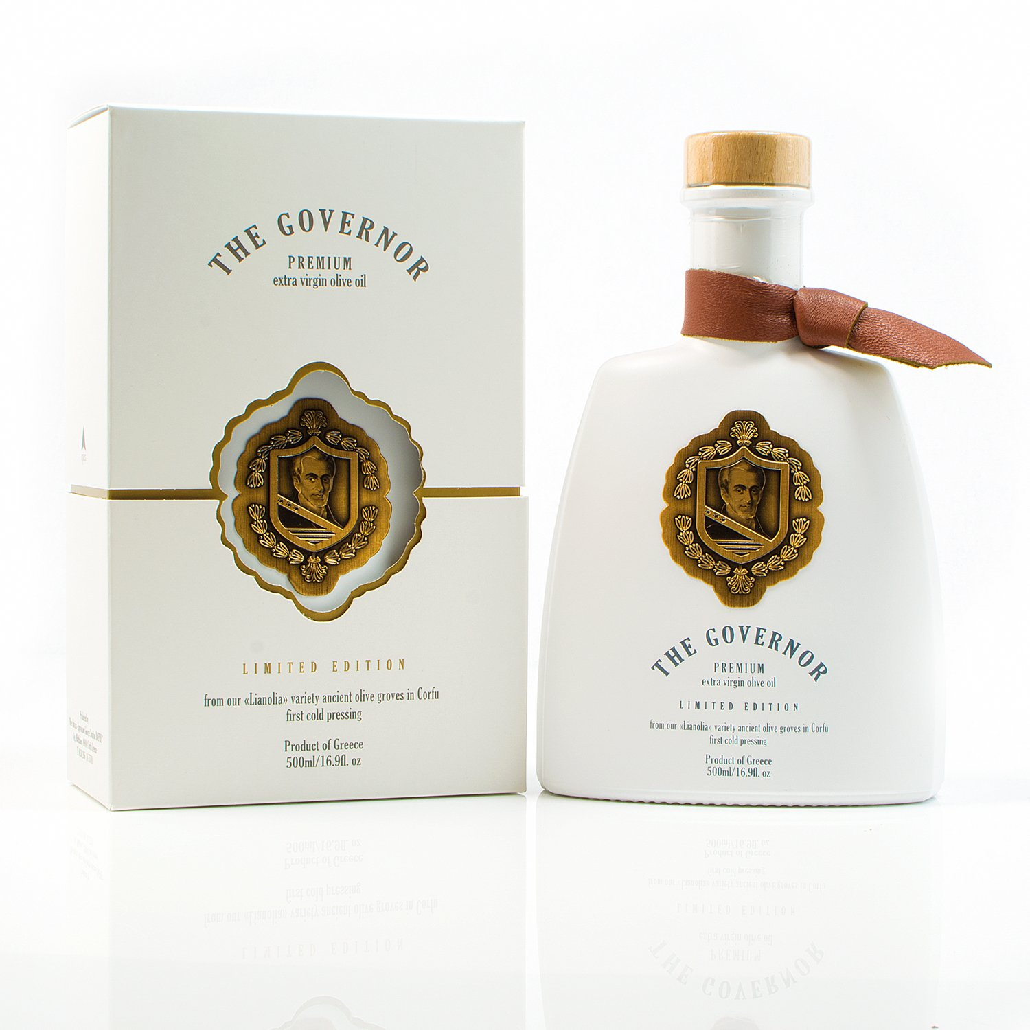 The Governor, Ultra Premium Unfiltered Extra Virgin Olive Oil | Olive Oil Polyphenols with Robust Health-Giving Properties | Cold-Pressed Olive Oil In a Limited Edition Luxury Glass Bottle | 500ml by The Governor (Image #1)