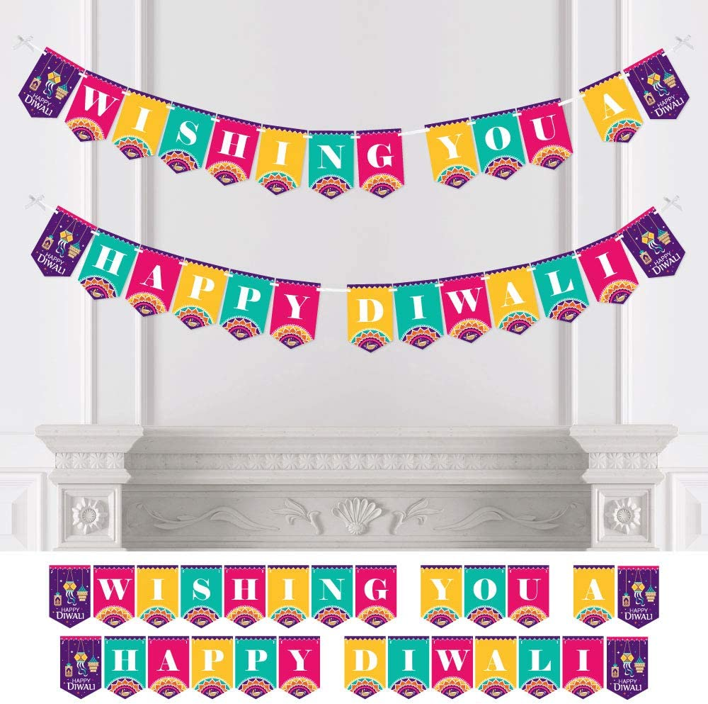 Amosfun Tea Party Banner Lets Par Tea Bunting Banner Decoration Hanging Garland for Afternoon Tea Party