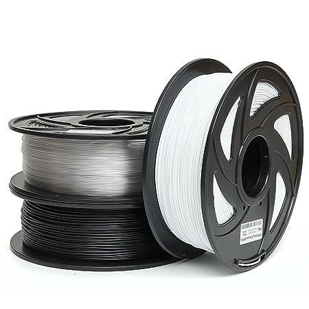 MASUNN 1Kg 1.75 Mm Petg Filamento Negro Blanco O Color Desnudo ...