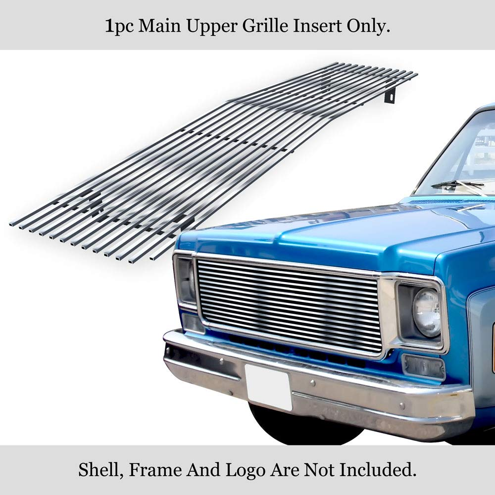 APS Compatible with 73-80 Chevy C K Pickup Suburban Blazer Main Upper Billet Grille C85008A