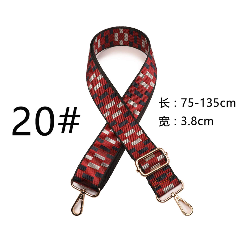 Zesoma Female Bag Belt Accessories Ribbon Worn One Shoulder Fashion Strap Backpack Belt Bag Wide Shoulder Bag Belt Can Be Adjusted