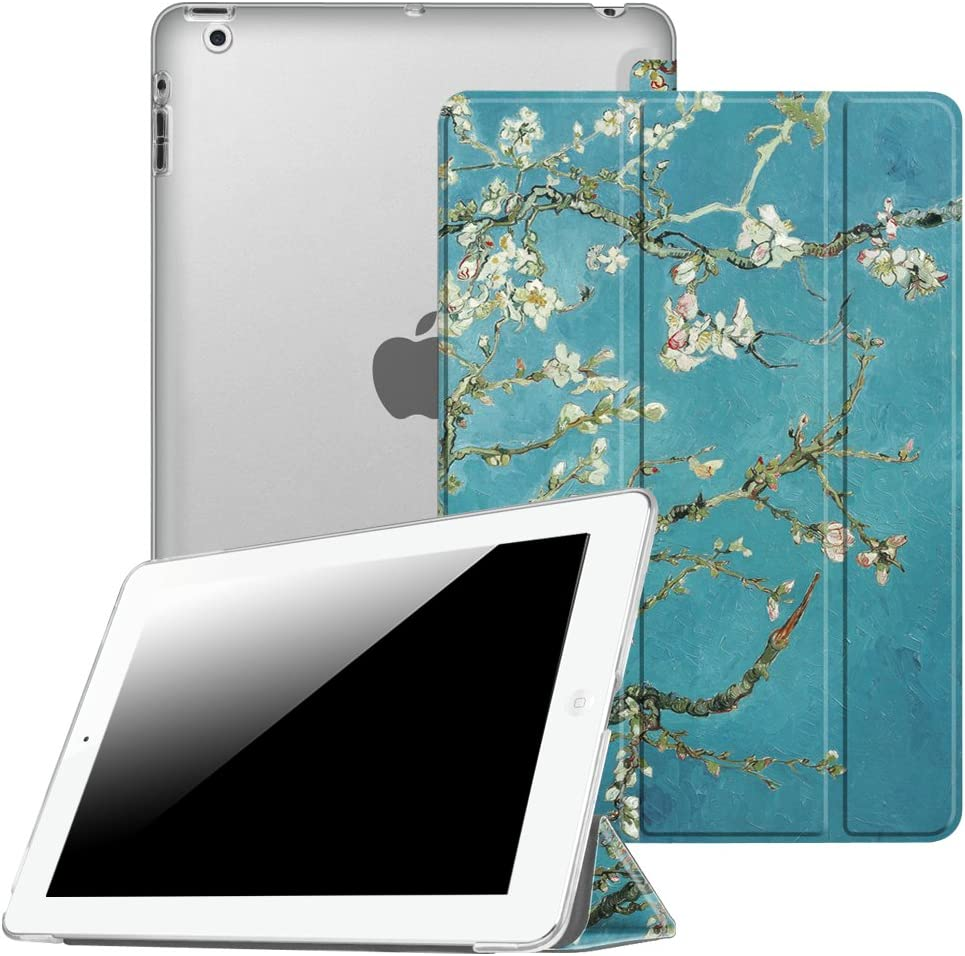 Fintie Case for iPad 2 3 4 (Old Model) 9.7 inch Tablet - Lightweight Smart Slim Shell Translucent Frosted Back Cover Auto Wake/Sleep for iPad 4th Generation Retina Display, iPad 3 / iPad 2, Blossom