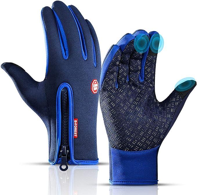 Winddicht /& Rutschfest Handschuhe Herren,Lzfitpot Winterhandschuhe bis zu 40℃ Damen Handschuhe Touchscreen Warm Fahrradhandschuhe Skihandschuhe,Wasserdicht