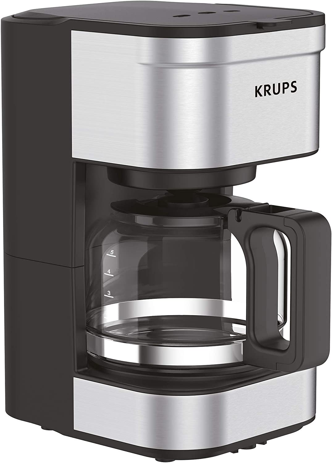Silver 5 Cup Krups KM202850 Simply Brew Coffee Maker