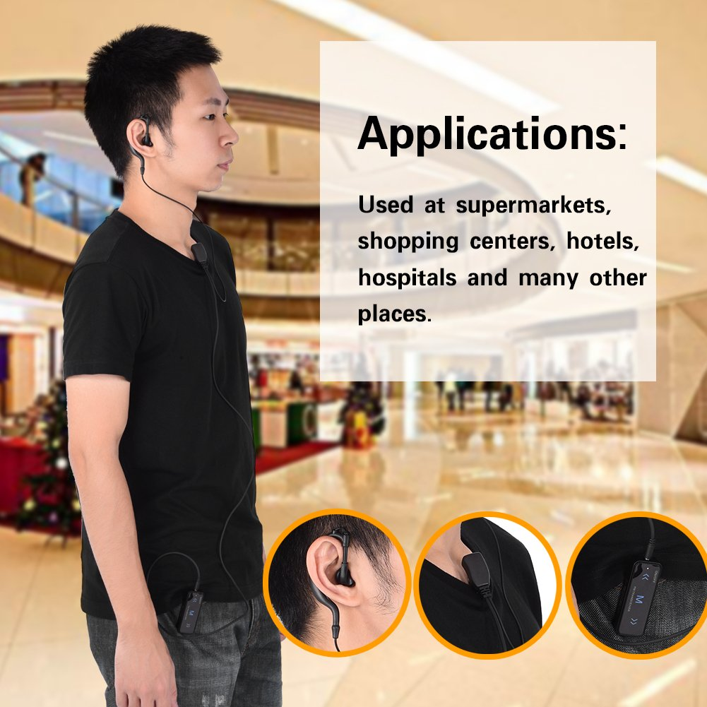 2PCS Mini Walkie Talkie with Earpiece 16 2-Way Radio Transceiver /& Earpiece Headset USB Cable 400-470MHz