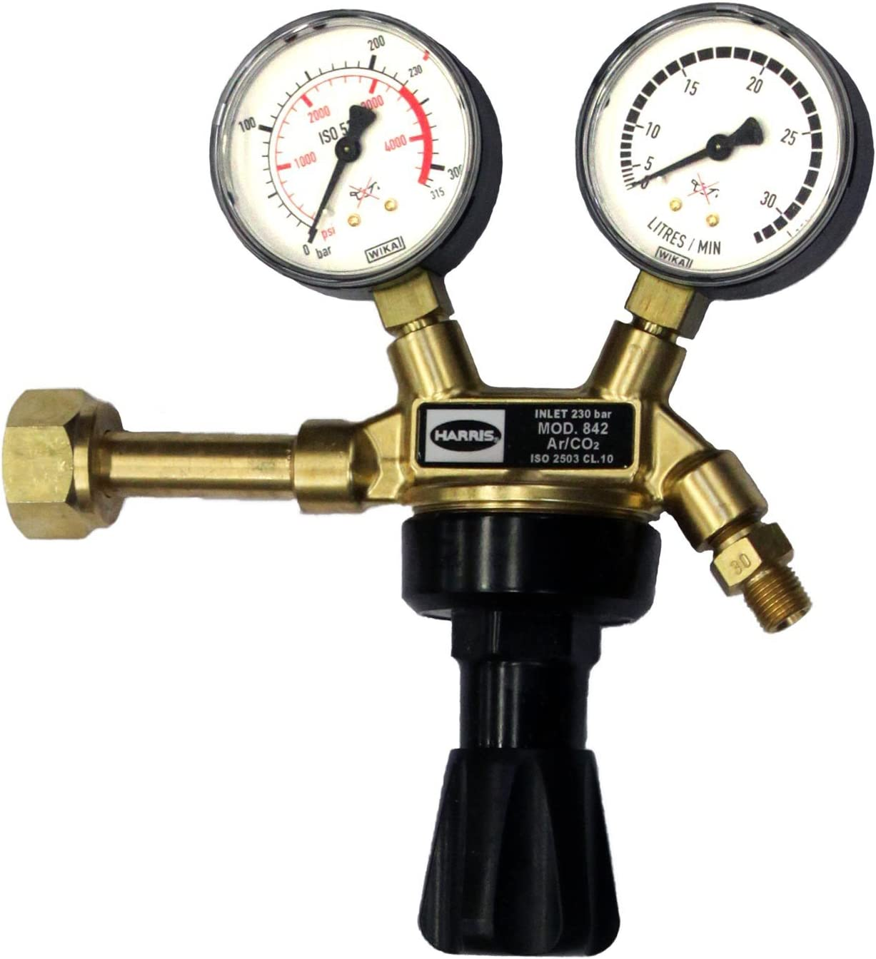 R 1//4 HARRIS Druckminderer Druckregler Gasdruckregler Argon 30 l//min