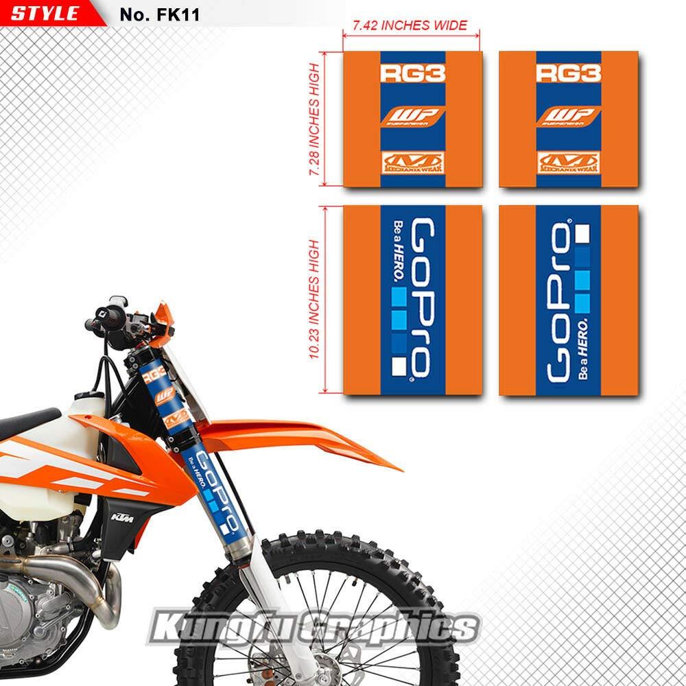 Kungfu Graphics Honda Upper Mid Fork Tube Decal Kit Red Pack of 4
