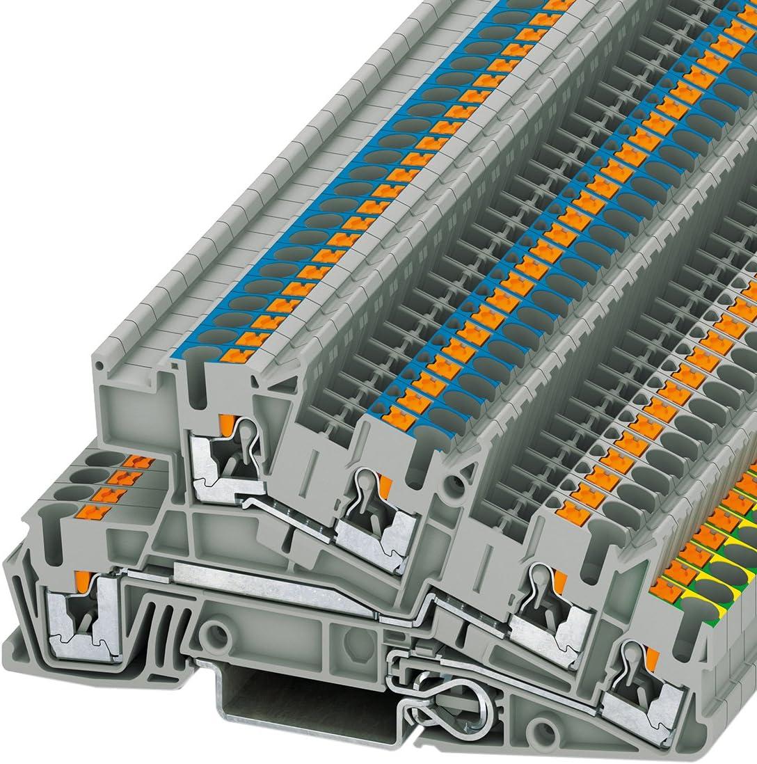 5,2 mm, 101 mm, 48,6 mm, 400 V Electrical terminal block Phoenix PTI 2,5-PE//L//L Gris