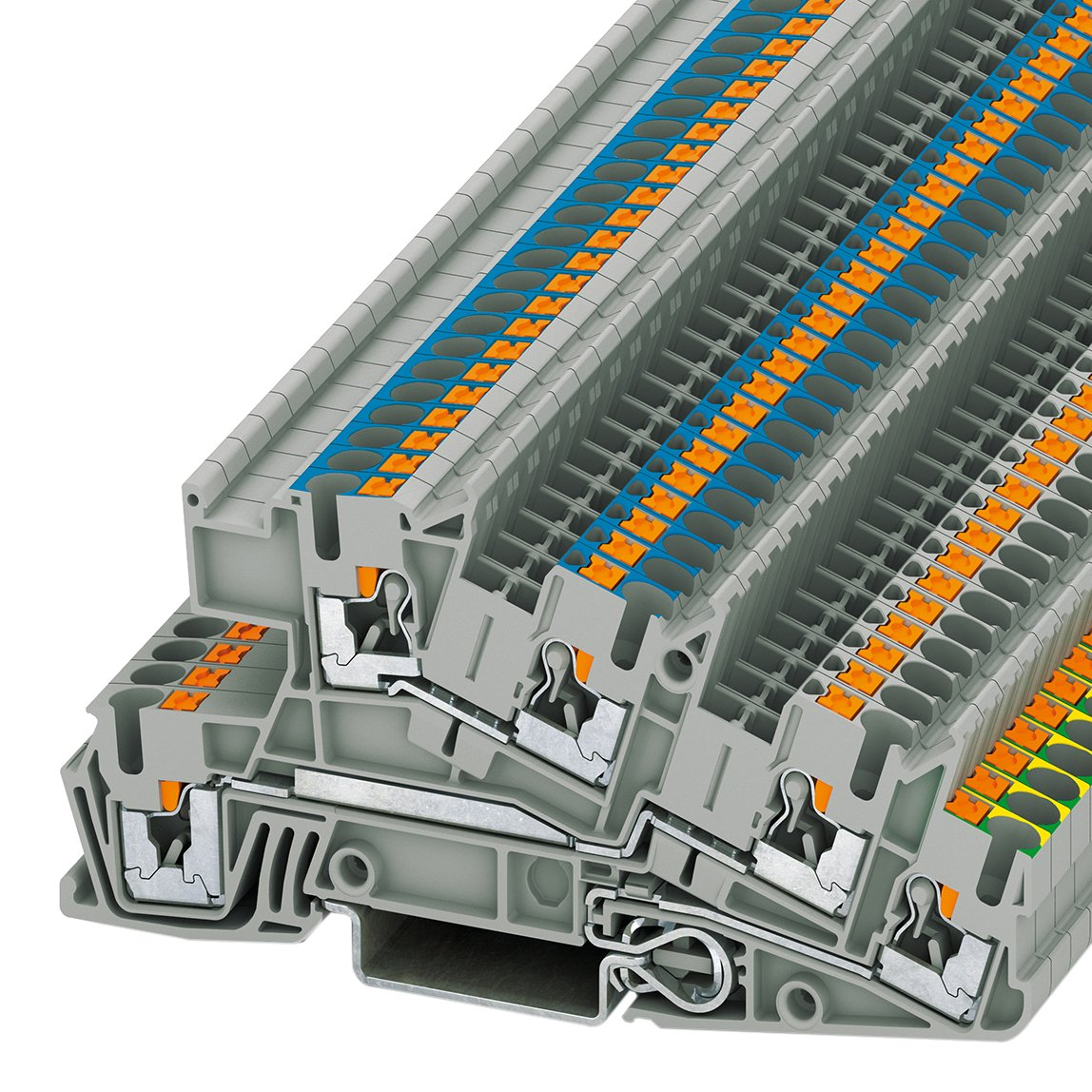 PHOENIX CONTACT Installationsschutzleiterklemme PTI 2,5-PE/L/N, 50 Stü ck, 3213950