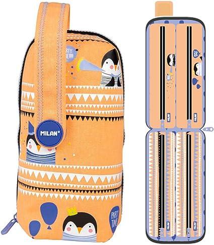 Estuche Milan Party Time Orange Handly Multipencilcase 31 Piezas: Amazon.es: Oficina y papelería
