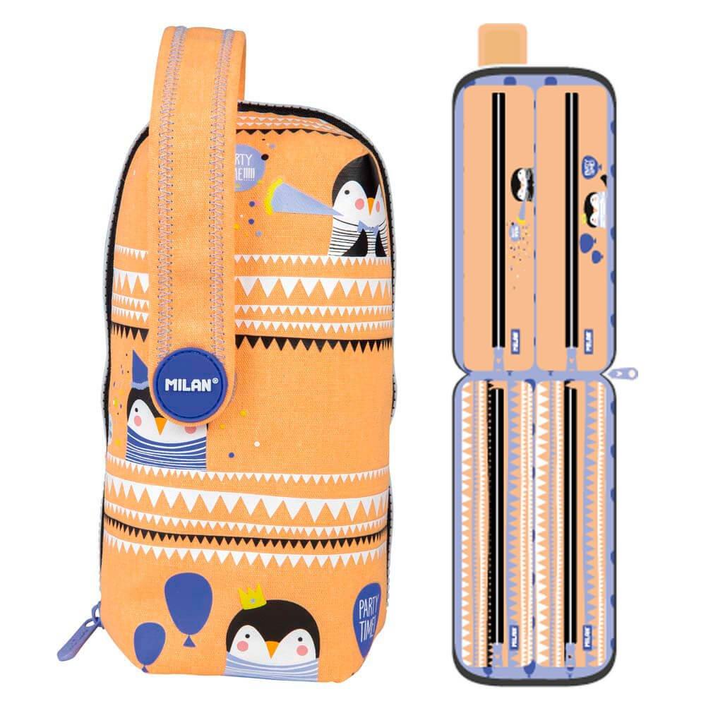 Estuche Milan Party Time Naranja Piezas Handly Multipencilcase 31 Piezas Naranja 1baaa1