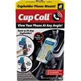 Official As Seen On TV Cup Call Cup Holder Phone Mount for Car by BulbHead - Adjustable Cell Phone Holder Fits Any Phone In A