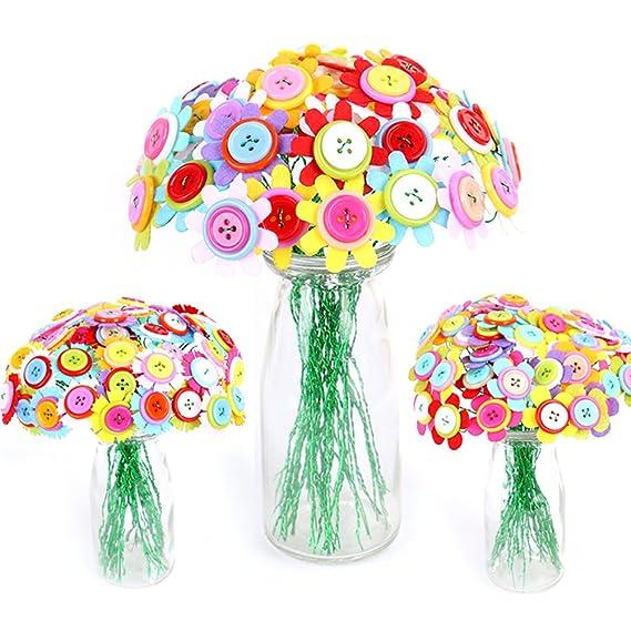 TOYMYTOY Ramo de Flores de Botón Flores Hechas a Mano Juguetes Educativos (Girasol): Amazon.es: Juguetes y juegos