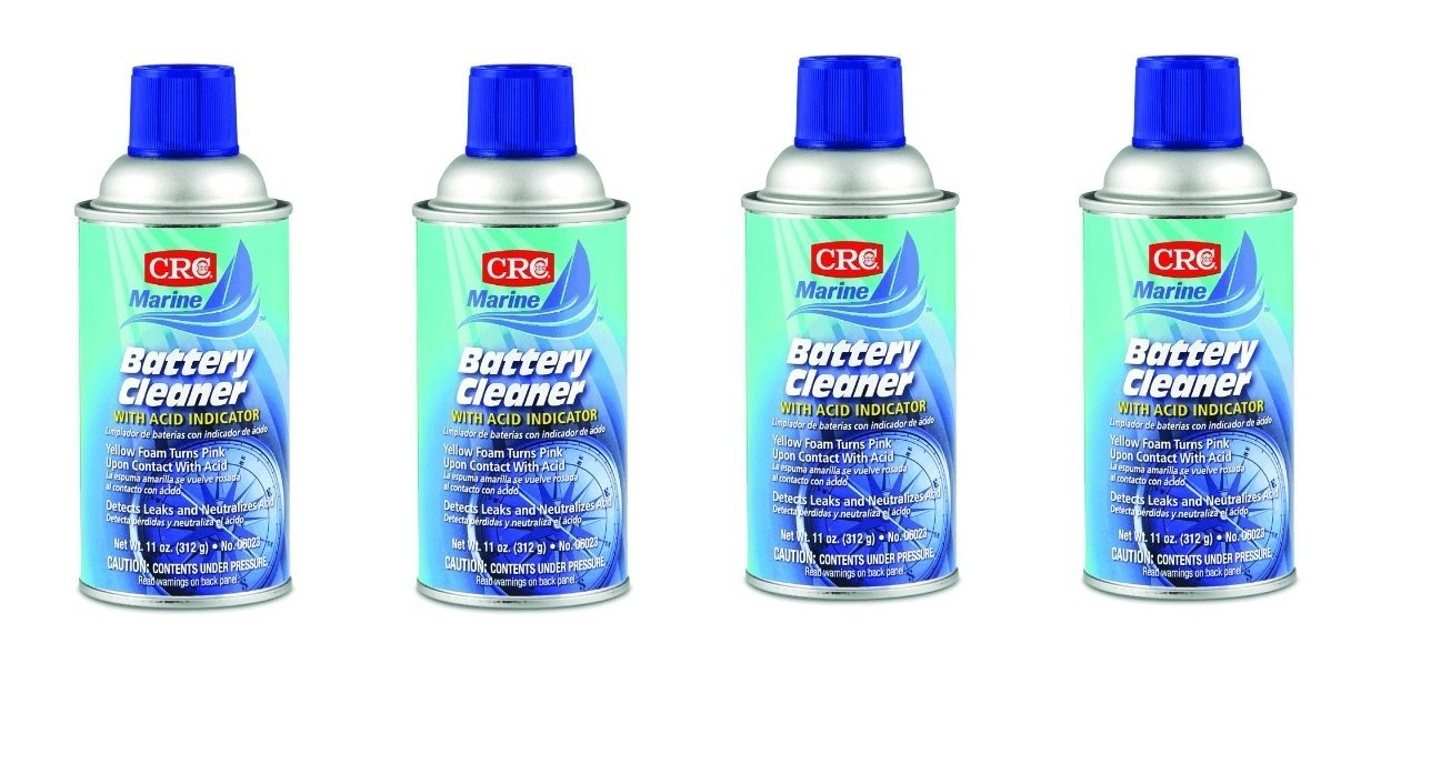 CRC 06023 Battery Cleaner 11 Ounce Aerosol (4)