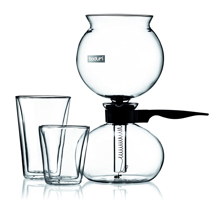 BODUM Pebo 8-Cup Vacuum Coffee Maker - 1 L/34 oz 1208-01 1208-01_Schwarz