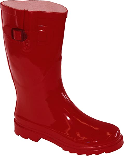8cfd427522be Own Shoe OwnShoe Womens Multiple Styles Rain Snow Winter Flat Rubber Mid  Calf Short Rainboot ...