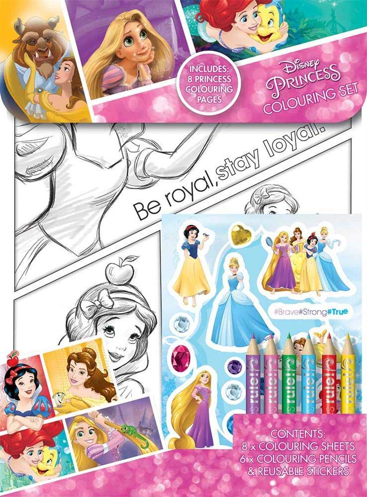 Paper Projects 9124370 Disney Princess Mega Sticker Pack Pink//Purple