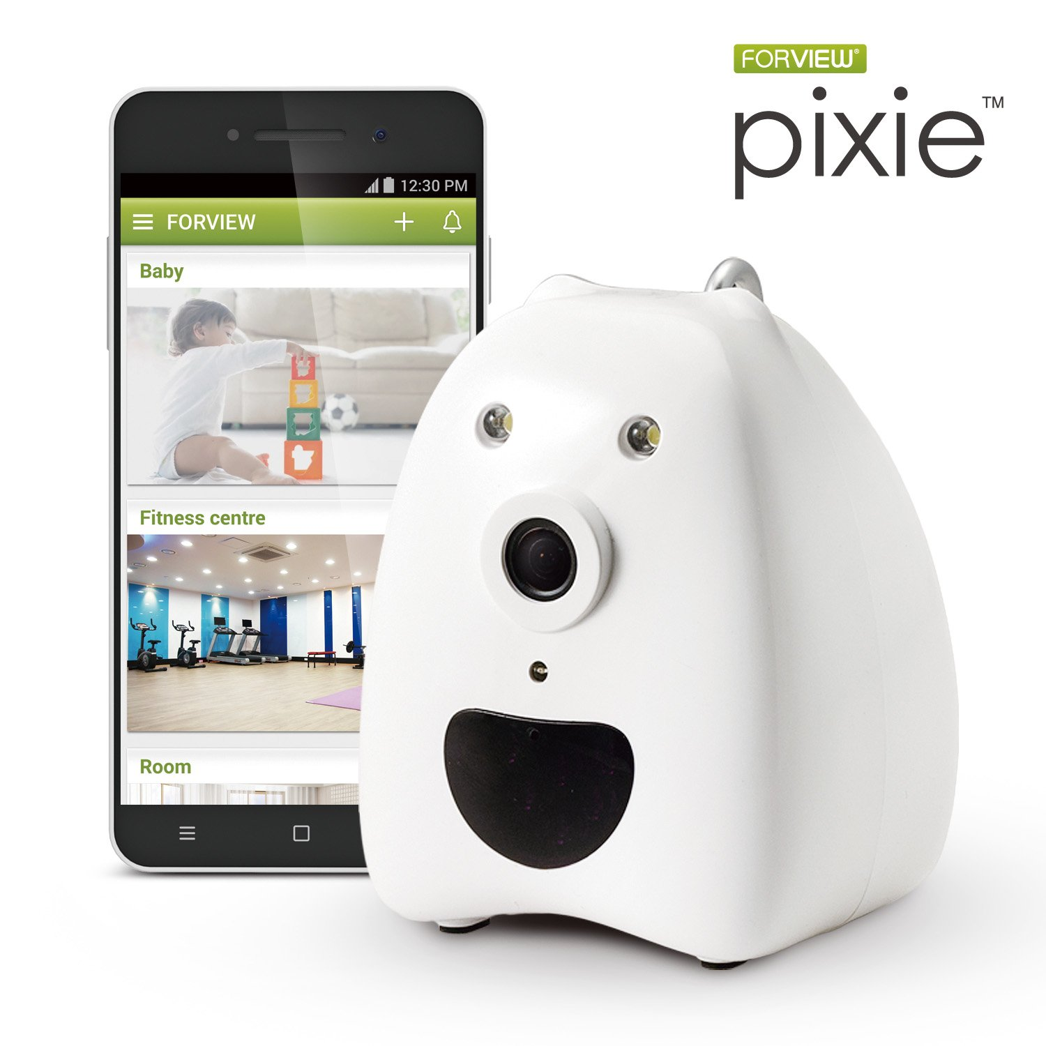 8GB SD card offered free Forview Pixie Wi Fi HD Day Night Home Camera Baby monitoring Pet monitoring with iOS and Android