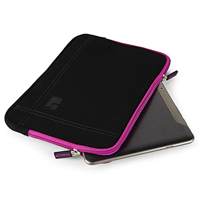 10.1 Inch Tablet Sleeve Laptop Pouch Cover Carrying Case Briefcase 10.1 Inch for Samsung Galaxy Tab A SM-T580 / Tab S3 / Huawei MediaPad M2 / MediaPad T1 10 / MediaPad 10 Link (Black/Purple)