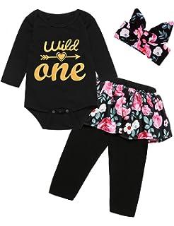 Amazon.com: Juego de 3 piezas de ropa para bebé y niña ...