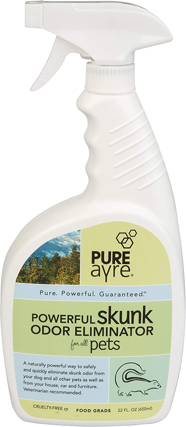 PureAyre Skunk and Pet Odor Eliminator, All Natural Plant Based ,Pure, Powerful, and Completely Safe (22 Ounces)