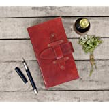 Store Indya Handmade Leather Journal Dairy Personal Journal Notebook with Secure Strap 180 Pages