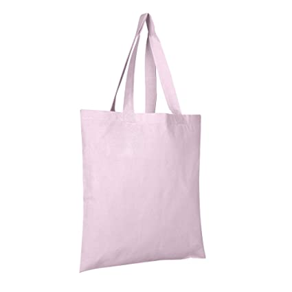 333676bf44 2 DOZEN (24-PACK) BagzDepot 100% Cotton Tote Bags, 6oz. Fabric Flat Bottom  Wholesale Plain Tote Bags, Reusable Grocery Bags, Arts and Craft Bags ...