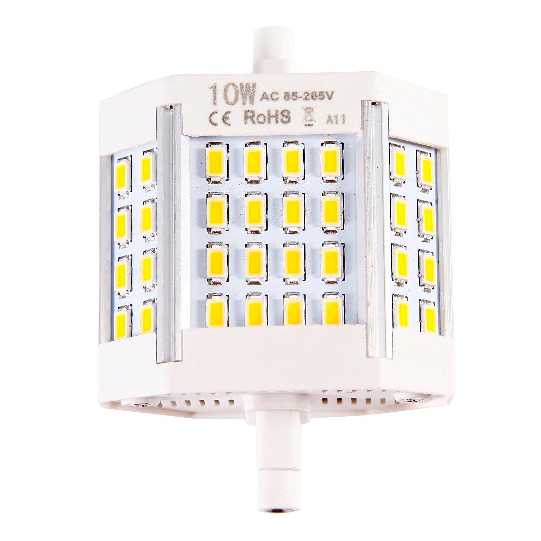 R7S LED 78 mm 10 W Lámpara halógena Lámparas bajo consumo ...