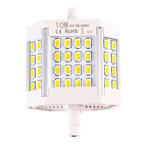 Intensidad regulable R7S 78 mm COB SMD bombillas LED Flood luz de maíz lámpara LED de