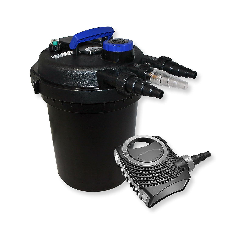 Kit de Filtration de Bassin à pression 6000l Stérilisateur UVC 11W 70W Pompe éco WilTec 54494