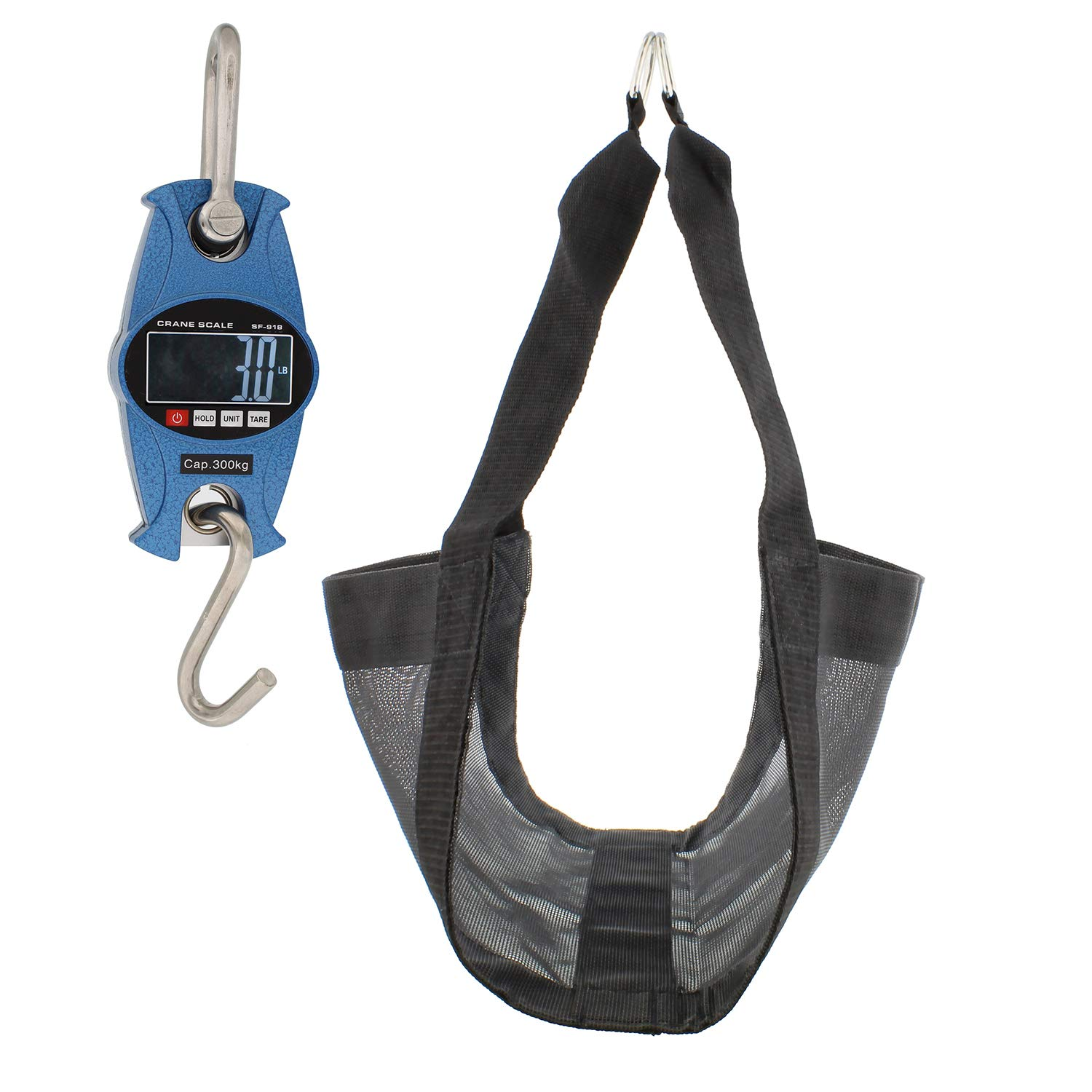 Rural365 Digital Hanging Scale Blue Calf Scale /& Calf Sling for Weighing 660 lb Mini Crane Scale /& Livestock Sling