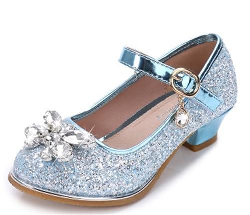 nueva llegada una gran variedad de modelos nueva lanzamiento YOGLY Zapatos para Niñas Princesa Zapatos Tacones Altos Baile Zapatos de  Diamantes de Imitación de Niña