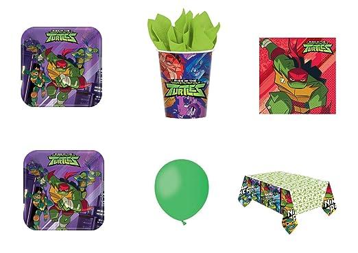 CDC - Kit N ° 10 Día y Party Tortugas Ninja- (16 platos, 16 ...